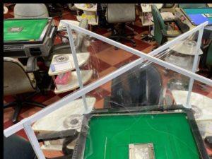 全国麻雀段位審査会 手打式麻雀卓用飛沫防止シールド